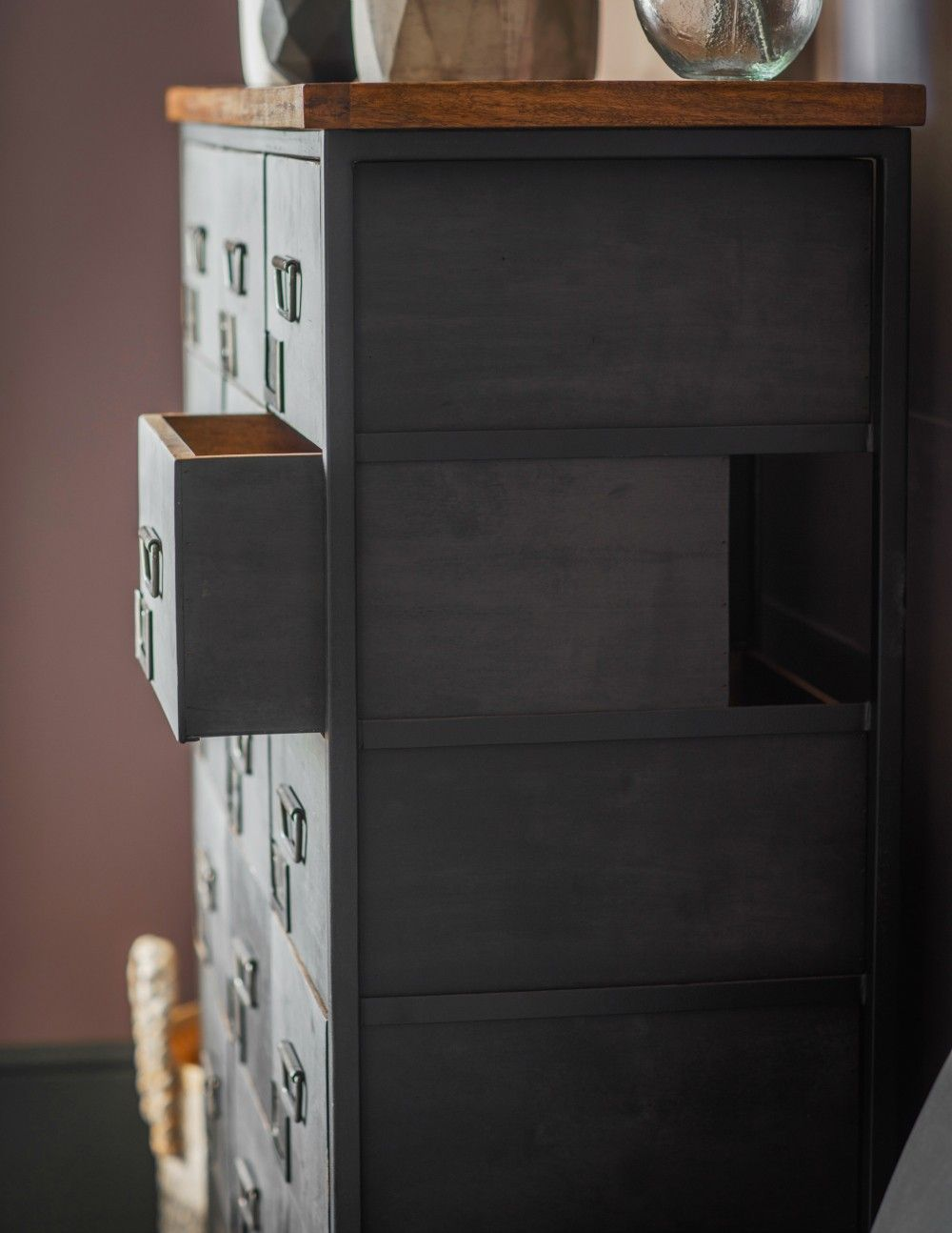 the best attitude 296e2 dad32 Black Apothecary Chest in 2019 | Sewing desk ideas ...