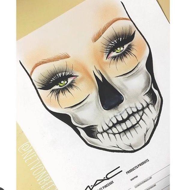 Face chart. Day of the death. | make up! | Pinterest | Kostüm ideen ...