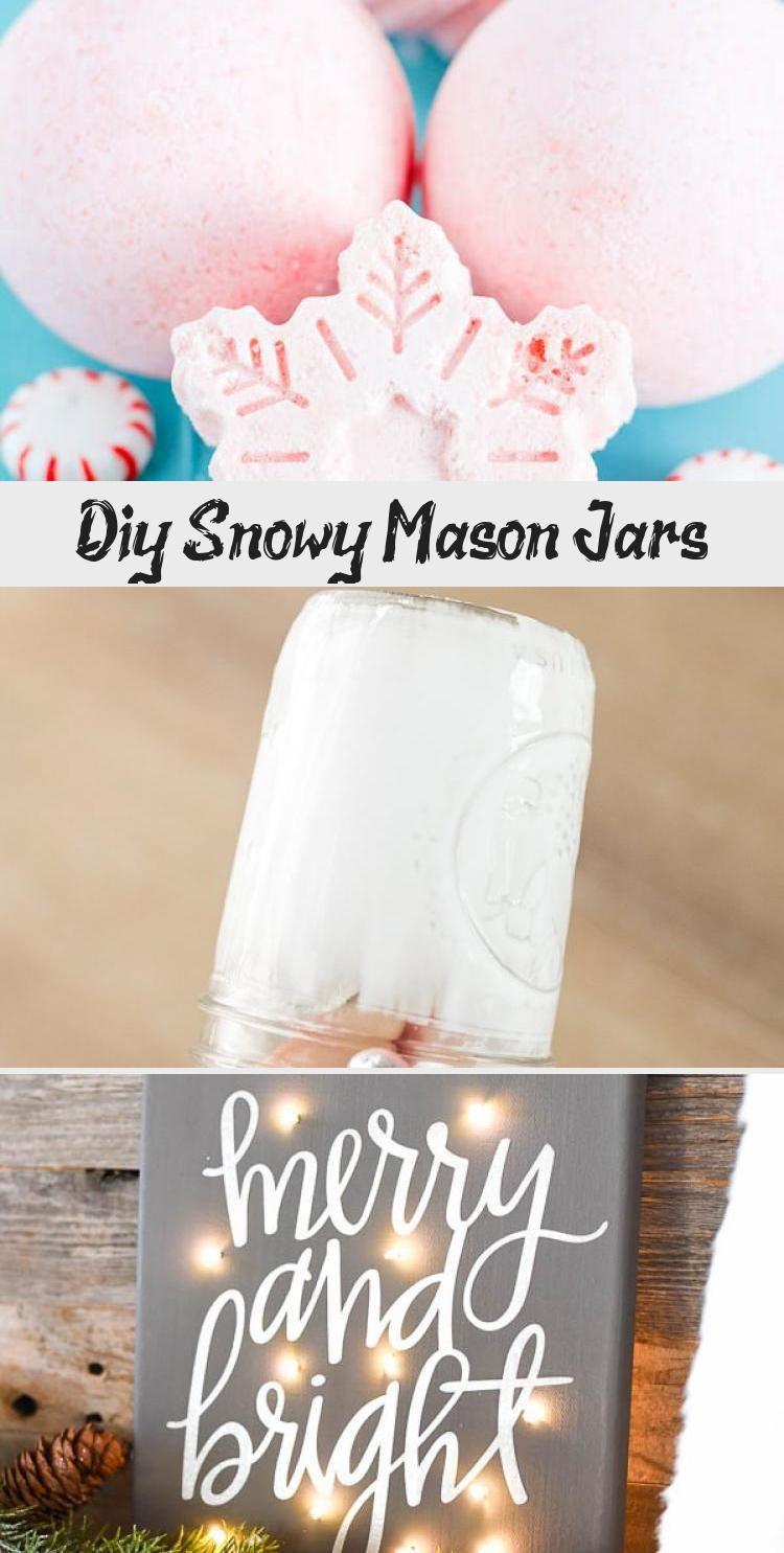 DIY Snowy Mason Jars – create faux snow-covered mason jar luminaries for the holiday season #MasonJars #Holidays #Diy #Christmas #ChristmasTime #ChristmasCrafts #diydecorChristmas #diydecorDesk #diydecorRustic #diydecorBirthday #diydecorTeenagers