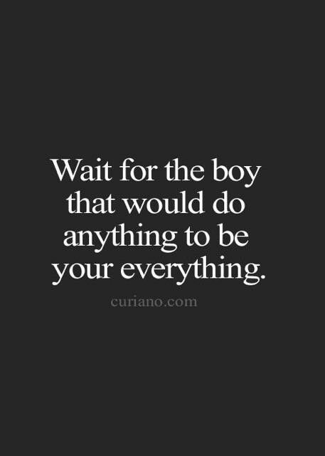 Dont Tell You This One Wait For The Boy Wait For The Man Whatever