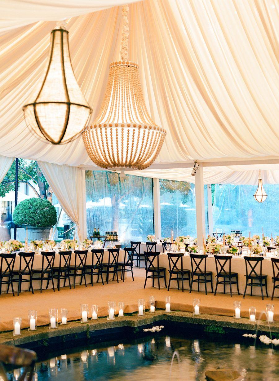 Elegant Neutral Hillsborough Wedding Tent wedding
