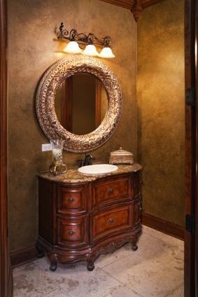 Image Sponge Painted Powder Room Jpg Painting Bathroom Powder Room Paint Colors Powder Room Design