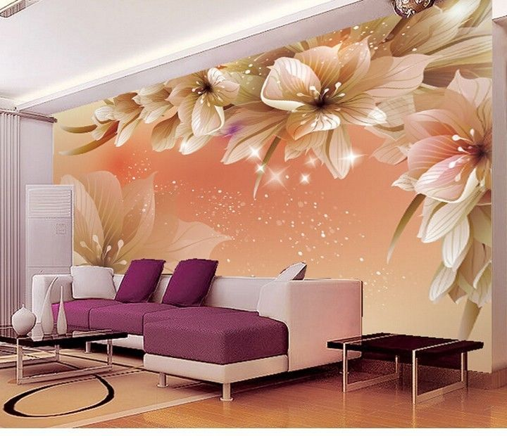 3d Wallpaper Bedroom Mural Roll Modern Luxury Large Flower Wall