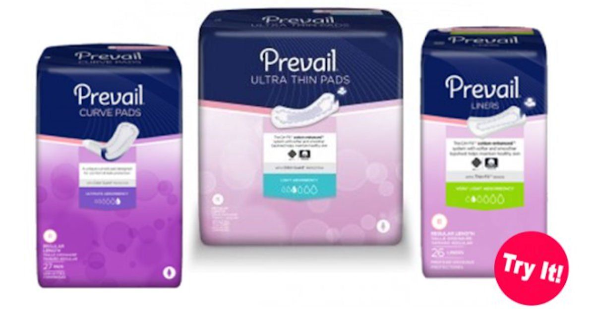 Meghan S Mindless Mutterings Reviews Giveaways Free Prevail Briefs Pads Or Liners Sample Pack Liner Pad Sample Packs