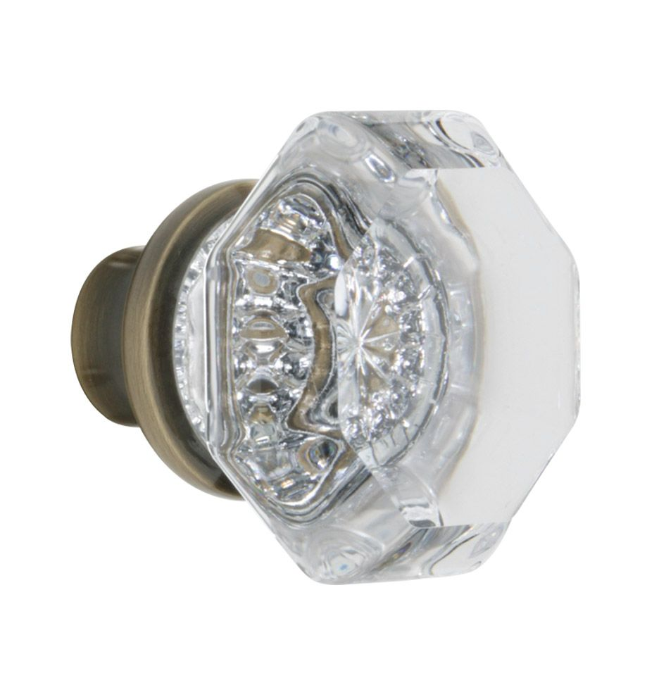 Exceptional Octagon Crystal Door Knob | Rejuvenation