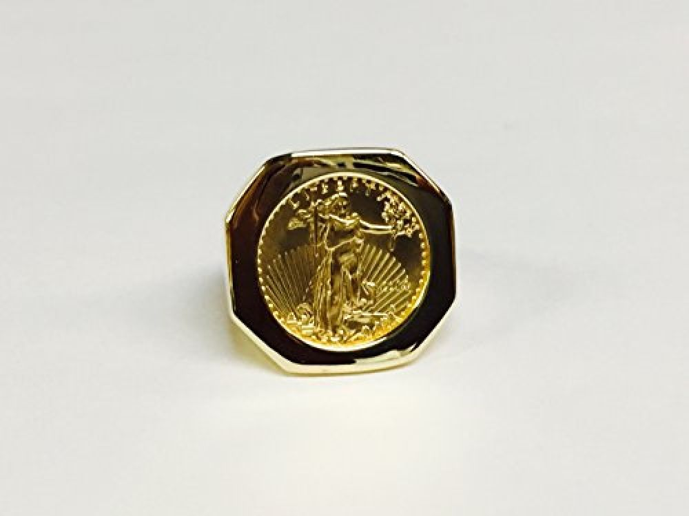 22k Fine Gold 1 10 Oz Us Liberty Coin In Heavy 14k Gold Ring 1233 Random Year Coin Price 839 00 Free Shipping Hashtag1 In 2020 14k Gold Ring Gold Rings 14k Gold