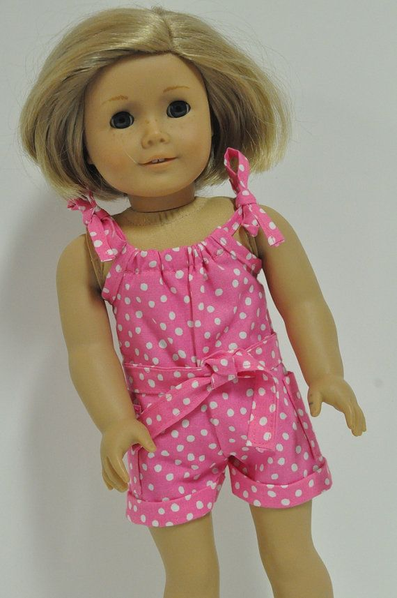 American Girl Doll Clothes Pink and White Polka by CircleCSewing ...
