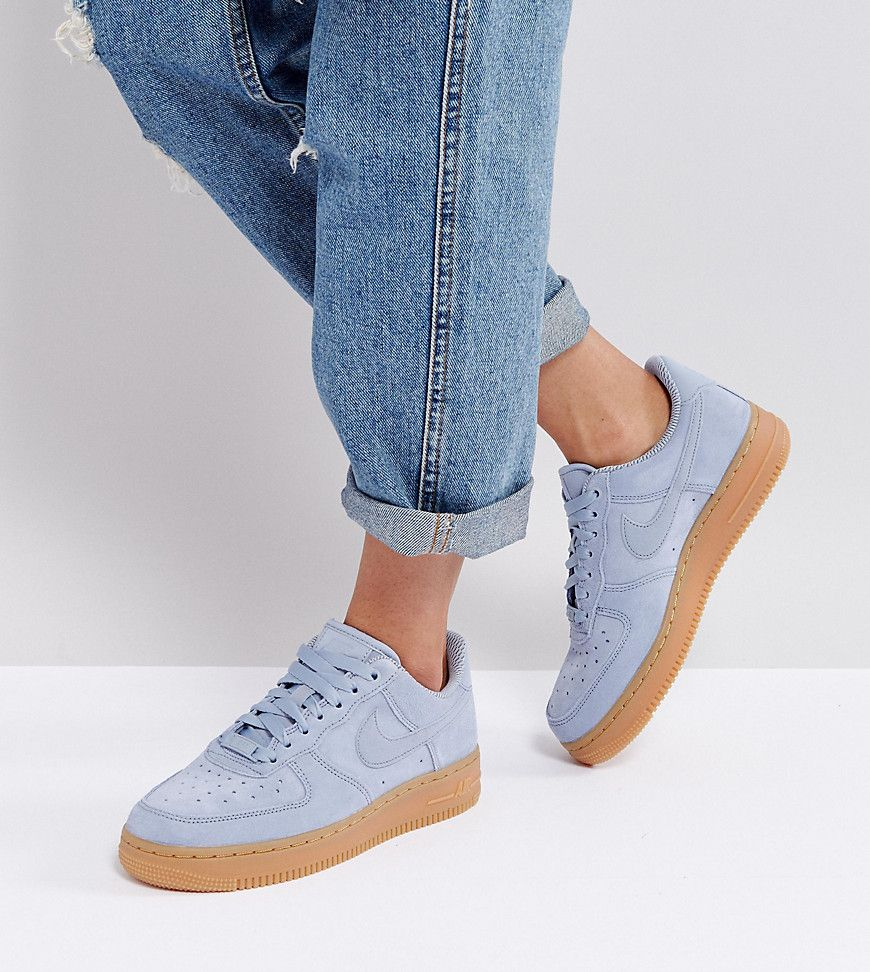 Nike Air Force 1 07 Glacier Grey Gum Hers trainers
