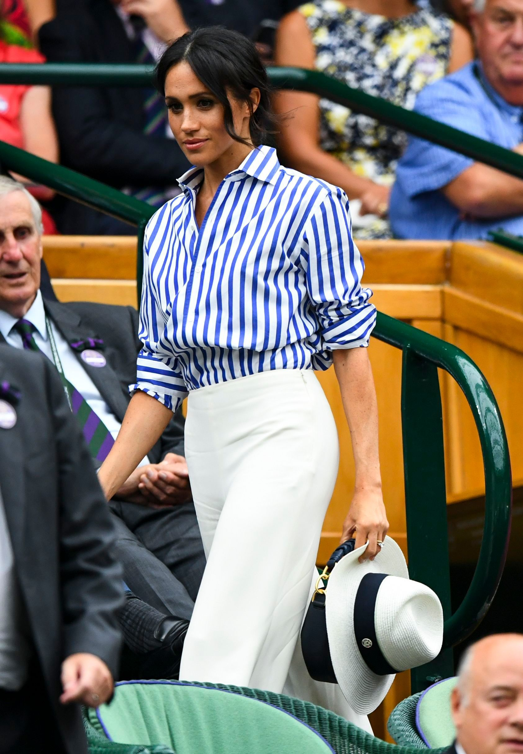 The Most Stylish Moments From Wimbledon 2018 Meghan Markle Style White Slacks Classic Outfits