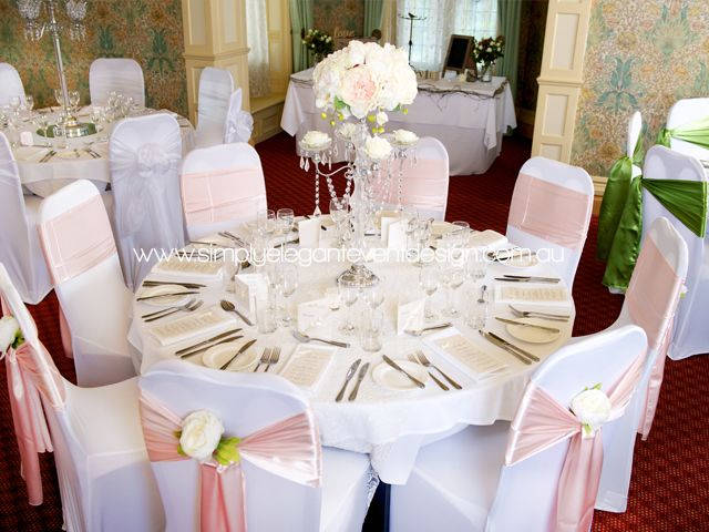 Sashes For Chairs wedding chair covers & sashes | adelaide's wedding decoration