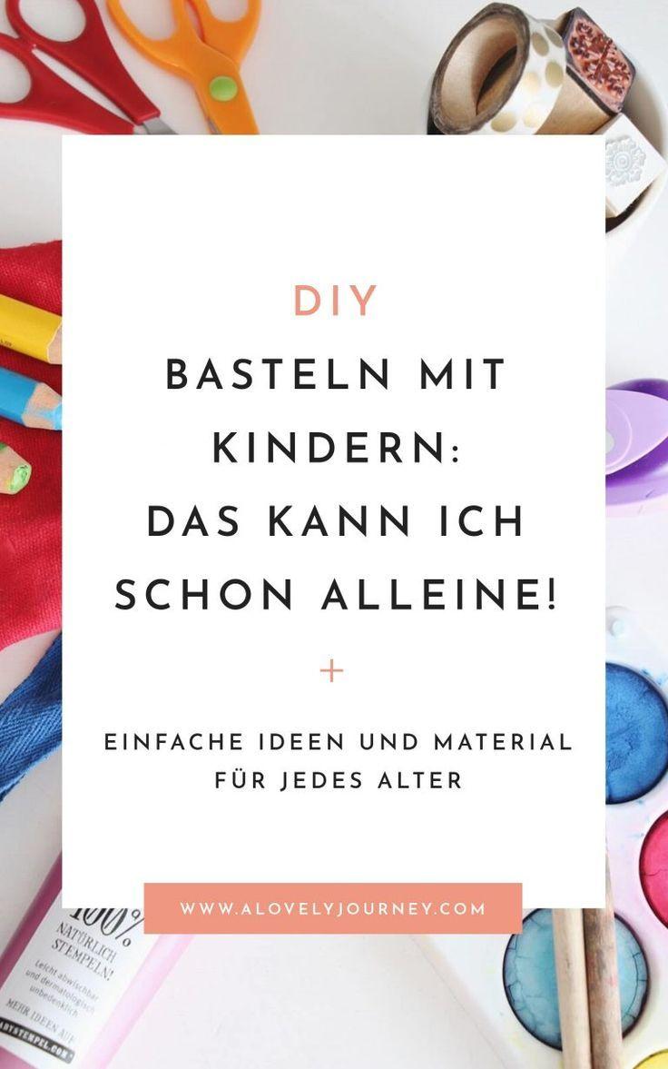 Basteln mit Kindern: Das können Kindern von 1 bis 4 Jahren machen