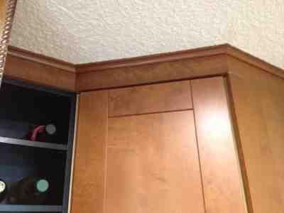 Best Ikea Adel Medium Brown Cabinets Matching Trim Brown 640 x 480