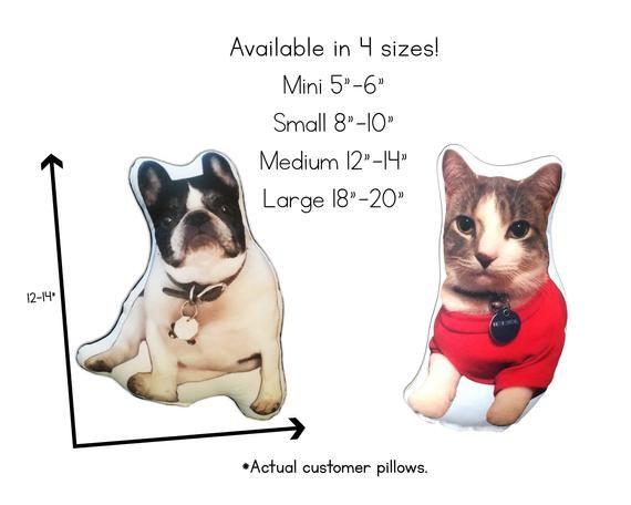 Custom Pet Pillow cat lover gift top selling items plush stuffed animal throw pillow custom dog pill