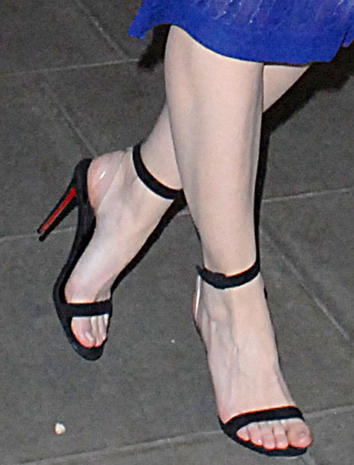 Daisy Lowe in Christian Louboutin x Jonathan Saunders sandals