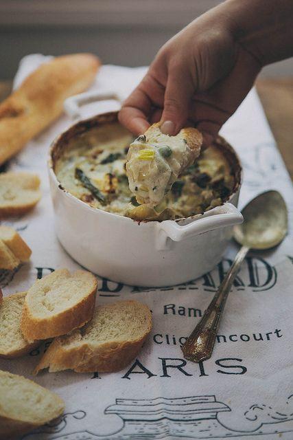 spring vegetable goat cheese dip.