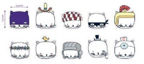 Transparent Cat Stickers