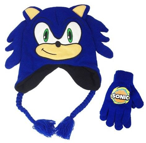 Sonic Boys Sonic The Hedgehog Hat And Glove Set Blue Gloves Set Sonic Sonic The Hedgehog