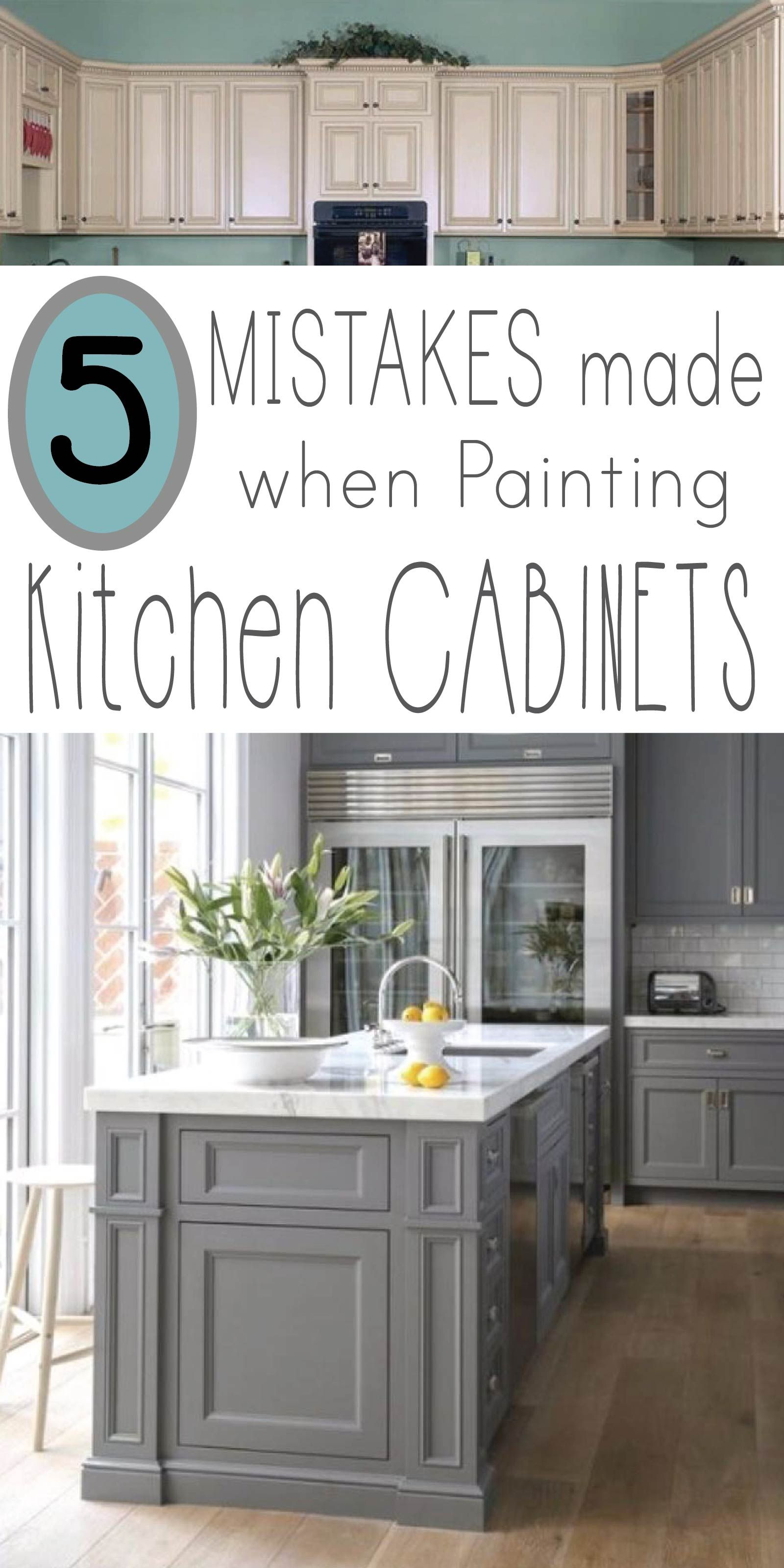 Learn 5 mistakes made when painting kitchen cabinets so your makeover project is professional looking