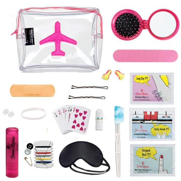 Airplane SOS #Travel #Kit - Pink Tips For Airplane Travel