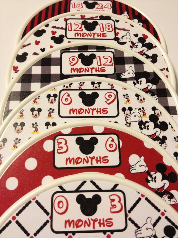6 custom baby closet clothes dividers mickey mouse nursery baby 6 custom baby closet clothes dividers mickey mouse nursery baby closet organizers perfect shower gift negle Choice Image