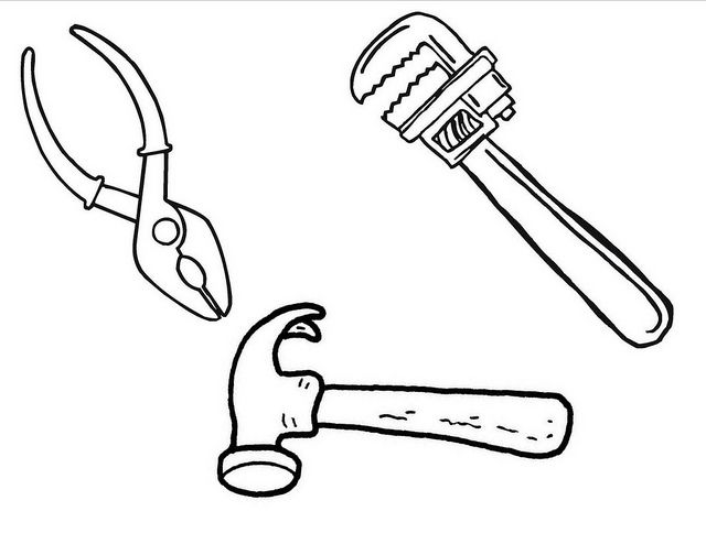 Tool Coloring Sheet Coloring Pages Preschool Coloring Pages Coloring Sheets