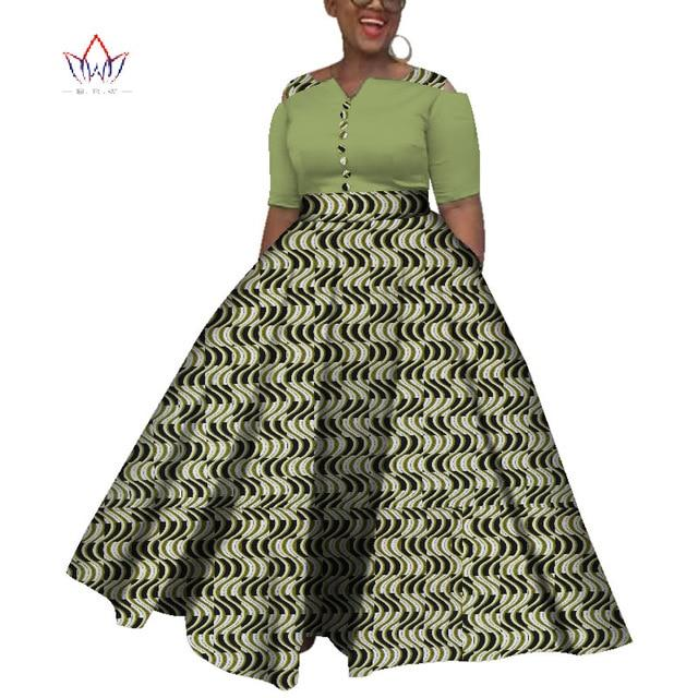 2019 African Dresses For Women  Dashiki  African Dresses For  Women Colorful Daily Wedding Size S-6XL  Ankle-Length Dress WY3853 #africandressstyles