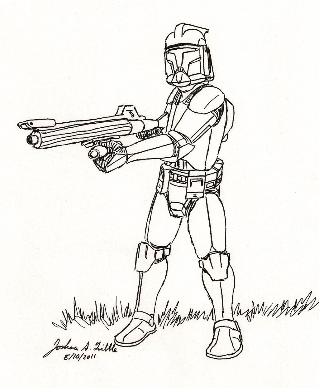 Clone Trooper Sketch 12 By Tribble Industries Star Wars Coloring Book Star Wars Drawings Avengers Coloring Pages