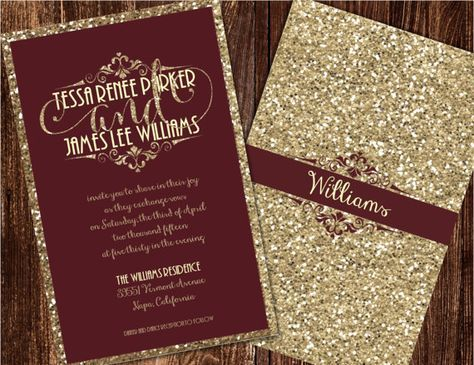 Christmas wedding invitations template