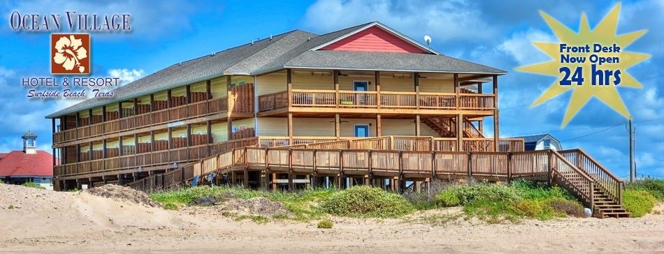 Ocean Village Hotel Resort Surfside Beach Best Beaches In Texas