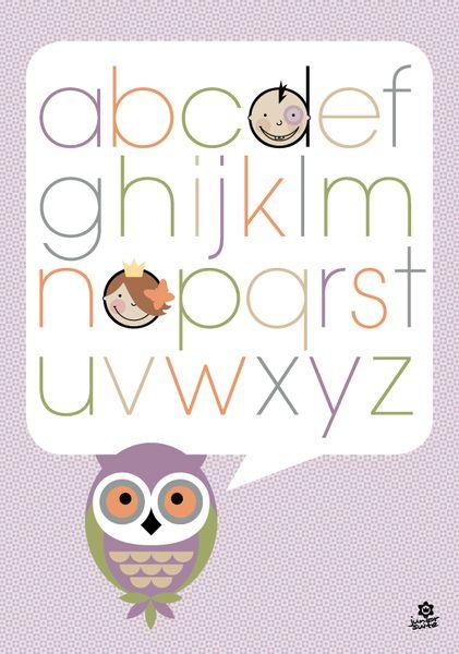 werken & bauen - diy-anleitungen | alphabet poster, Wohnideen design