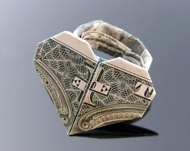 Easy Dollar Bill Origami Heart : 8 Steps - Instructables | 630x792