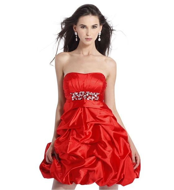 Red and black dress for juniors