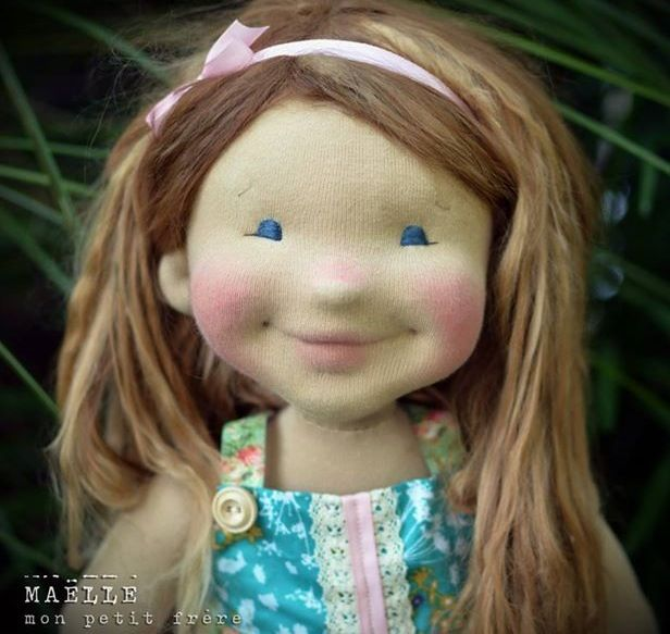 Maelle by Mon Petit Frere. I absolutely adore this dolly with her contagious smile. She looks alive! And completely reminds me of Ella!