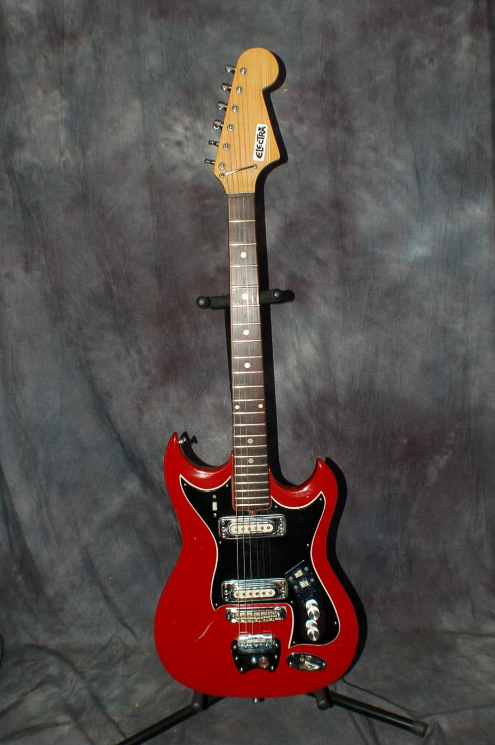 1967 Electra Hagstrom II Copy Made in Japan RED Pro Setup Orig Soft Case