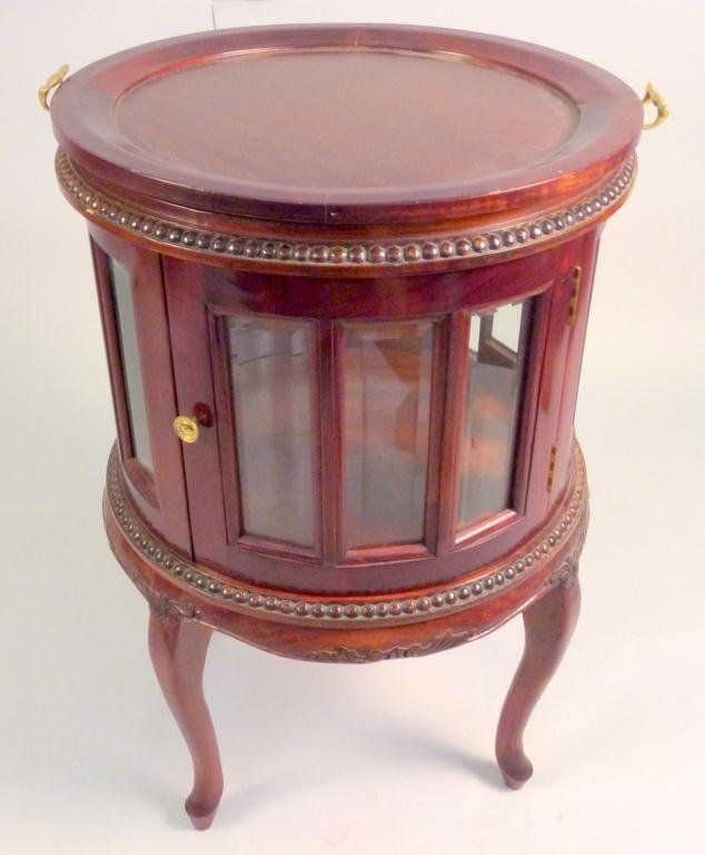 English Style Round Bar/Server Cabinet