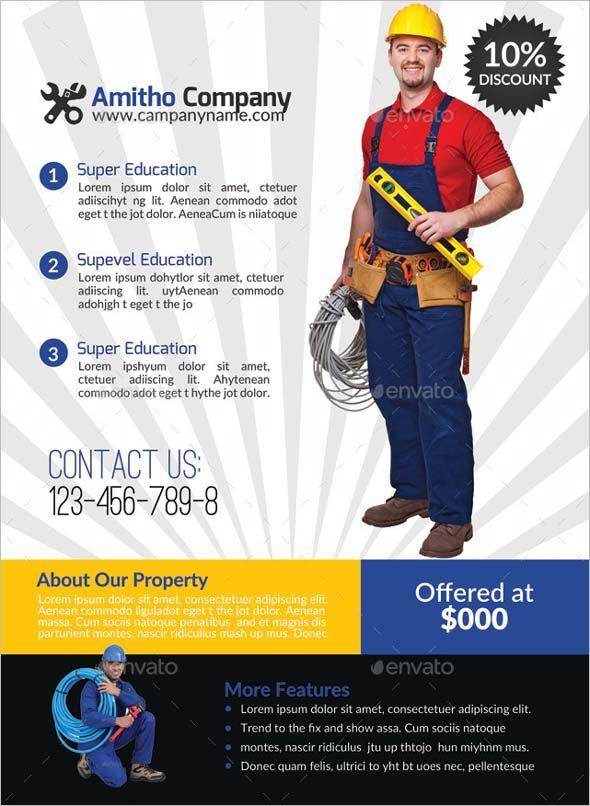 Superior 16+ Free U0026 Premium Handyman Flyer Mockups U0026 PSD Design Templates