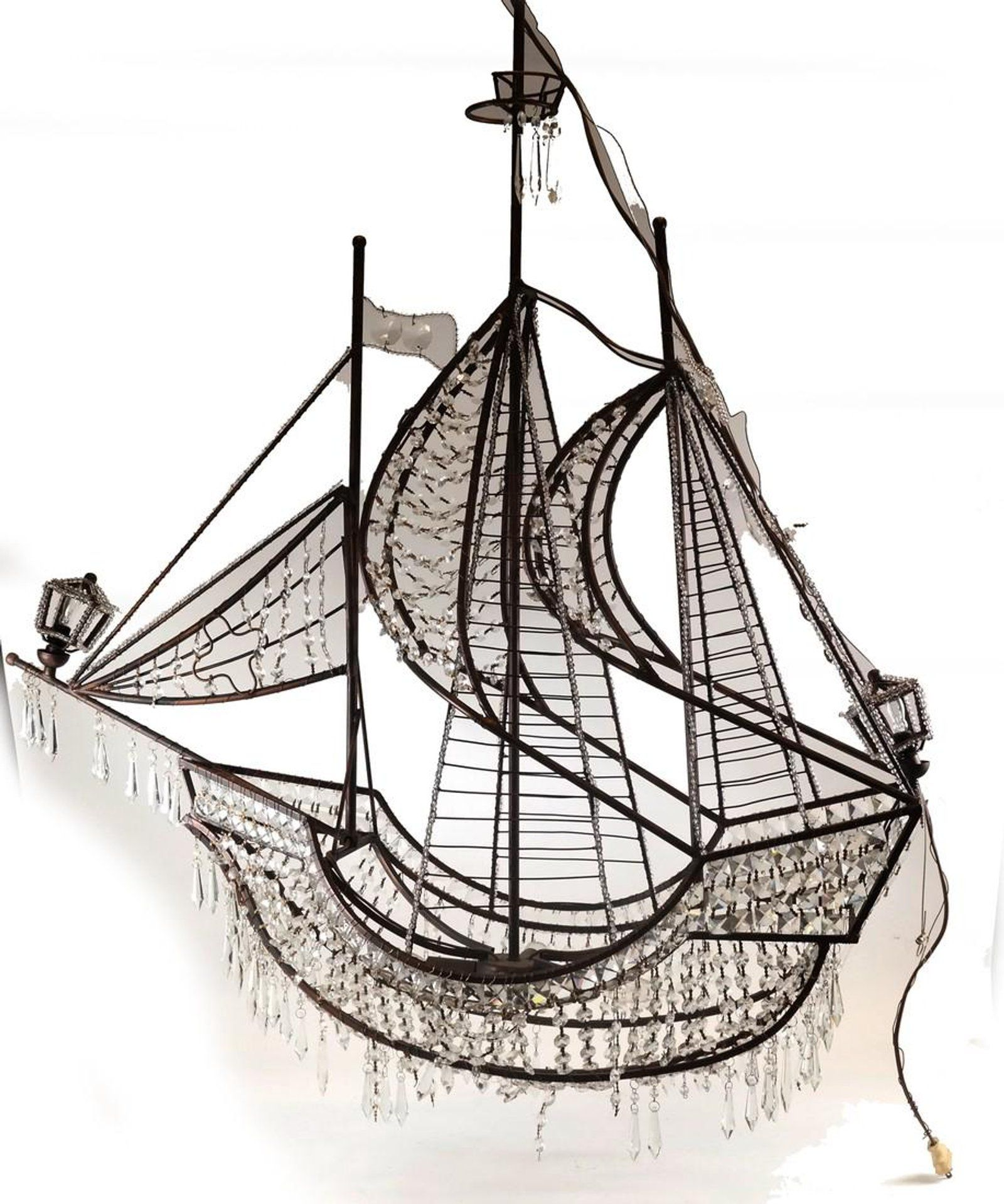 Crystal and metal frame sailboat chandelier lamps of all kinds crystal and metal frame sailboat chandelier arubaitofo Choice Image