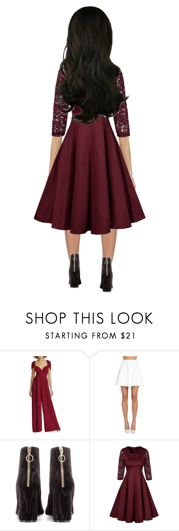 """""""Untitled #129"""" by stylemepurty ❤ liked on Polyvore featuring Dessy Collection, Alice + Olivia, STELLA McCARTNEY, GetTheLook, Favorite and doll"""