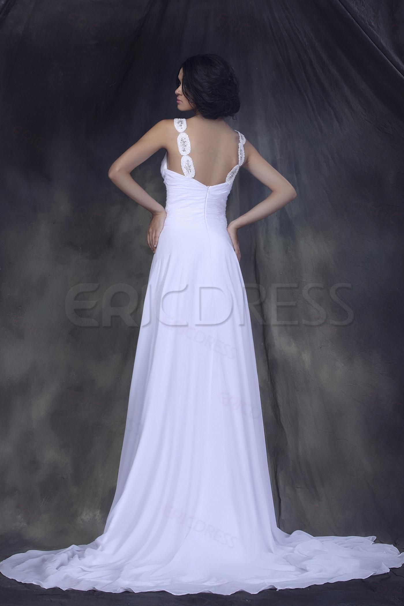 Incredible Empire Straps Sweetheart Floor-length Wedding Dress 2