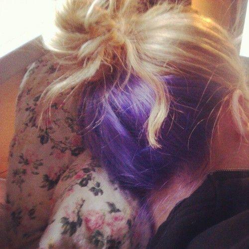 Underlayer Tumblr Hair Color Underneath Best Hair Dye Hidden Hair Color