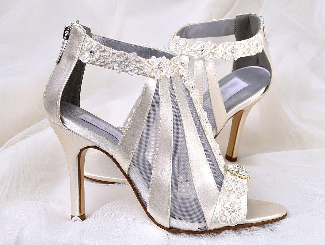 70477aa620c Wedding Shoes - FREE Custom Color Dye Service- Vintage Wedding Lace ...