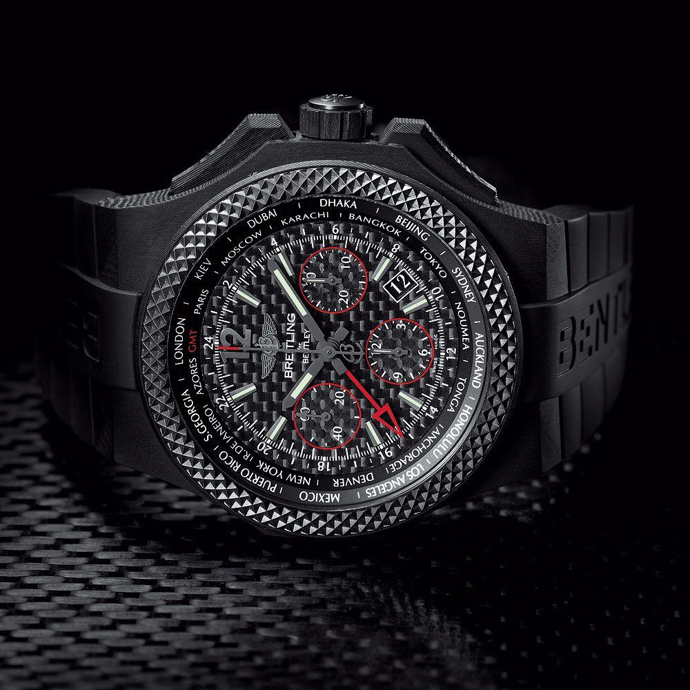Bentley Gmt B04 S Carbon Body: Sporty Traveler: Breitling For Bentley GMT B04 S Carbon
