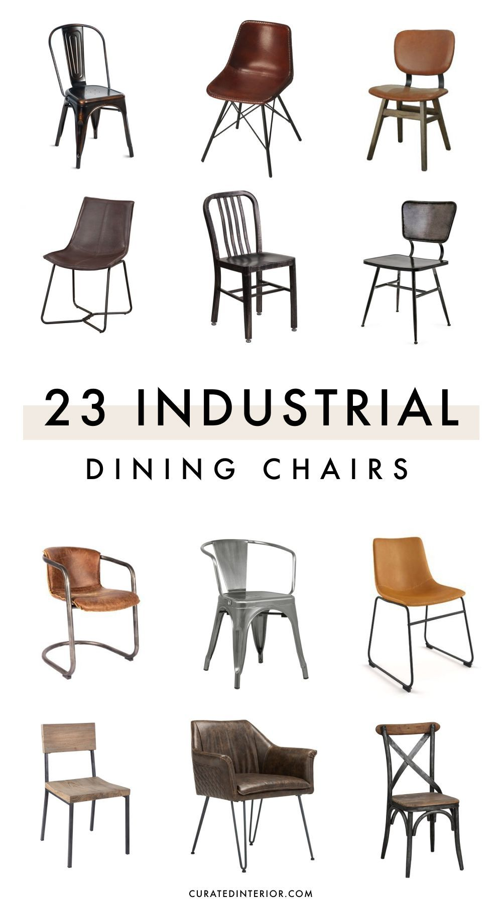 23 Industrial Dining Chairs Made Of Metal And Wood Industrial