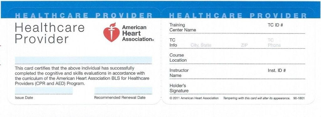 American Heart Association Aha Healthcare Provider Bls Certification Seven Reasons Why Ame Basic Life Support Cpr Card American Heart Association