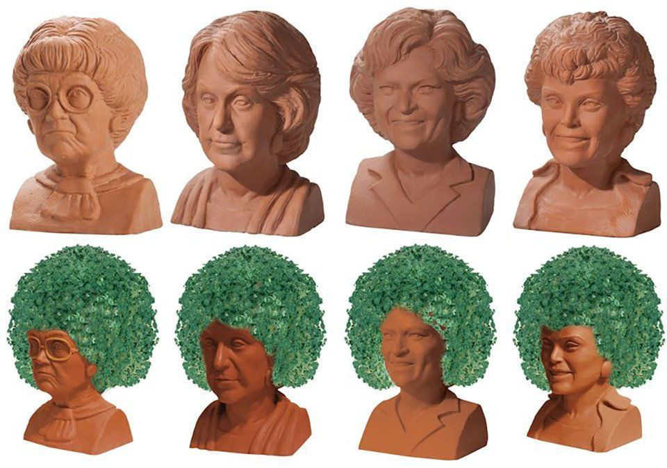 Neca Chia Pets Include Rick And Morty Gremlins Golden Girls And Groot Chia Pet Golden Girls Pets