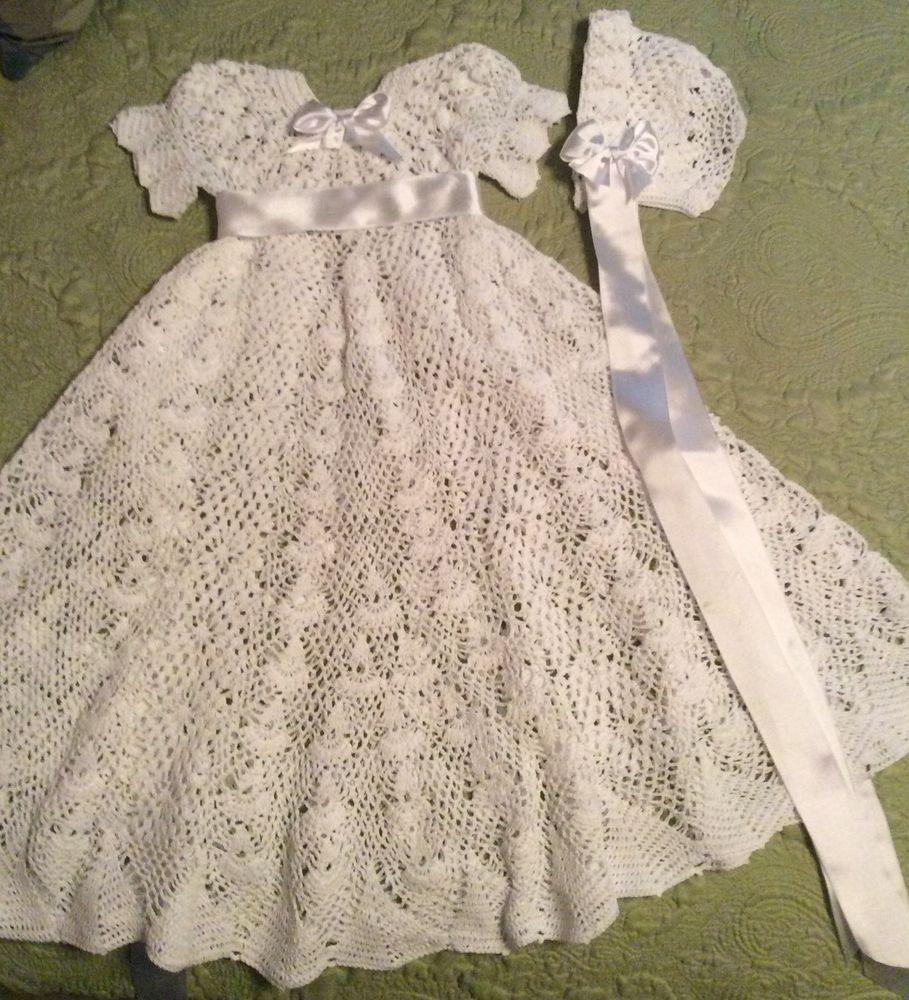 Crochet christening gown and bonnet pattern heirloom style crochet christening gown and bonnet pattern heirloom style dt1010fo