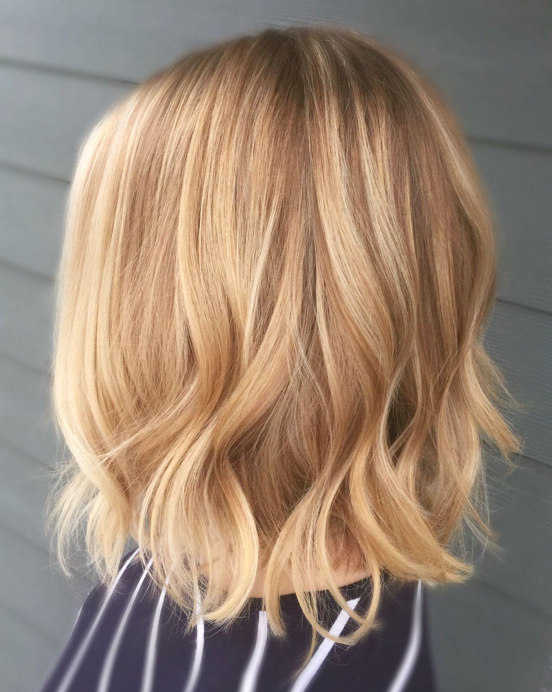 28 Latest Balayage Hair Color Ideas For Short Hair Honey Blonde