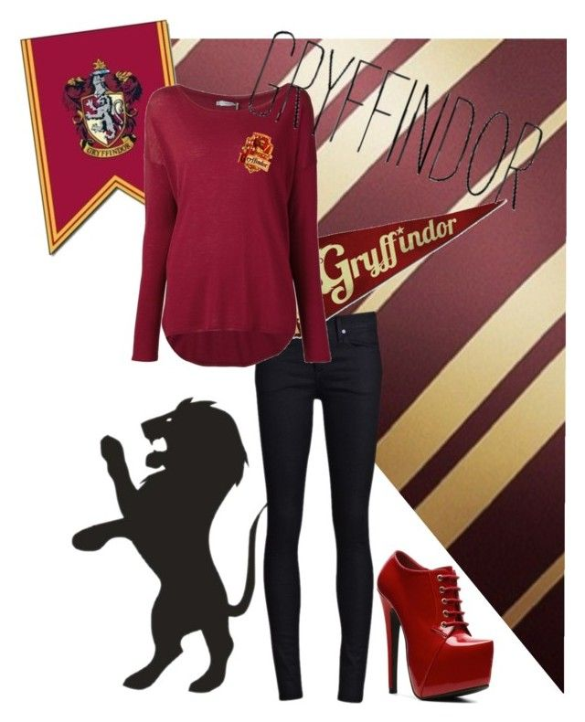 """griffindor"" by kerstinxx ❤ liked on Polyvore featuring THVM, Vince and N.Y.L.A."