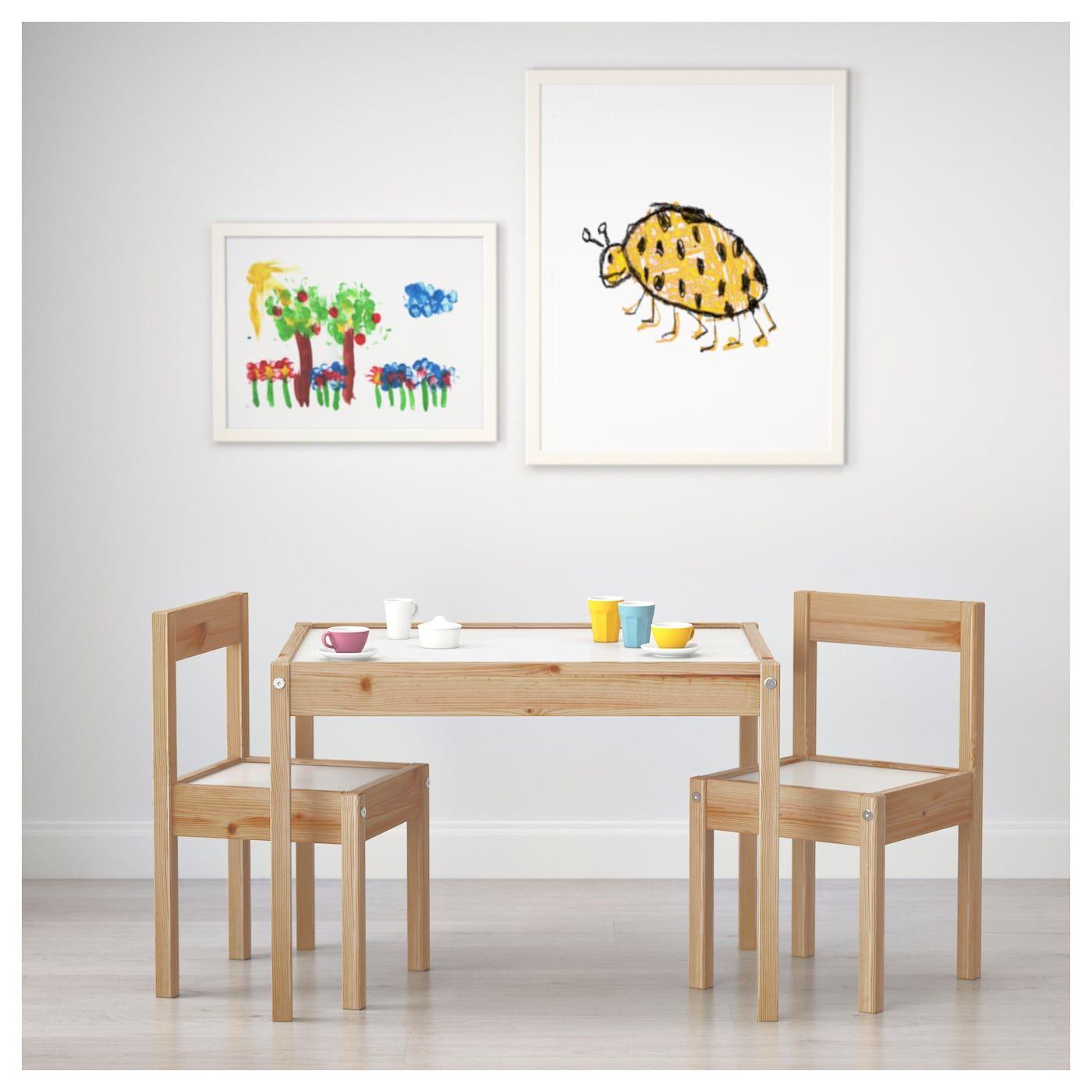 Latt Kindertisch Mit 2 Stuhlen Weiss Kiefer Ikea Deutschland