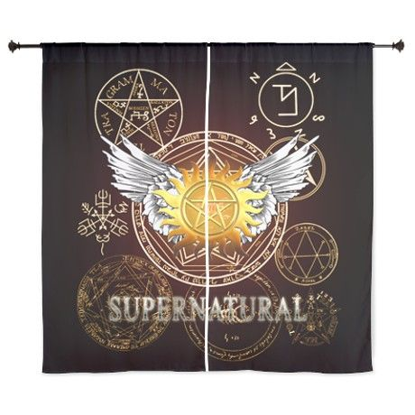 Supernatural Pentagrams Curtains On Cafepress Com Supernatural